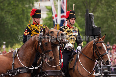 Members of the Kings Troop with their Frisky Horses