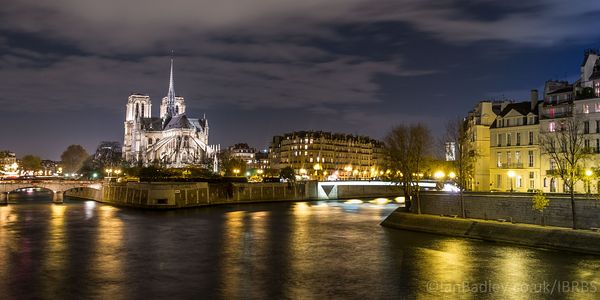 The Notre Dame, Paris at night (before the fire)