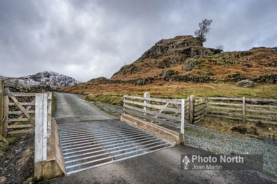 LANGDALE 25A - Cattle grid at the foot of Wrynose Pass