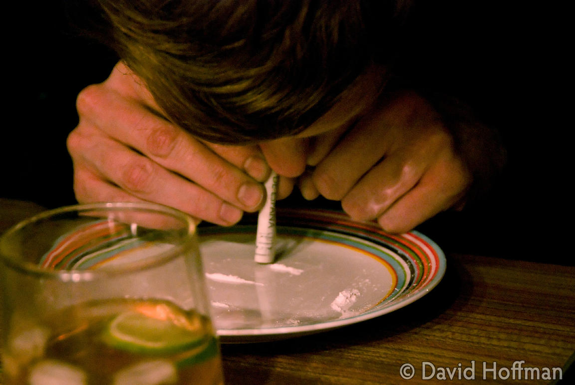 071116_Snorting_4 Sniffing cocaine at a party in London, November 2007.