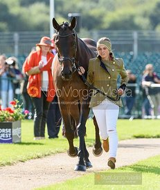 Nicky Hill and MGH BINGO BOY at the trot up, Land Rover Burghley Horse Trials 2019