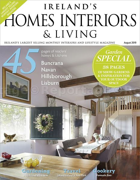 So Haley's house is the cover story in Ireland's Homes Interiors and Living August Issue!