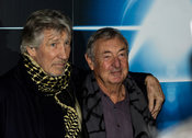 Roger Waters (L) co-founder of Pink Floyd and drummer Nick Mason (R) at the press conference for The Pink Floyd Exhibition - ...