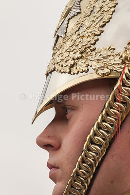 Big Closeup of a Household Calvary Soldier
