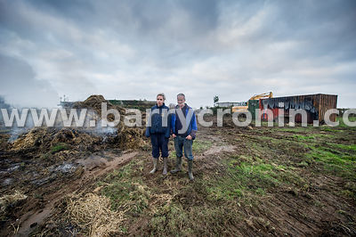 3rd November, 2015.Terry and Amelda Middleton on the family farm which was the scene of an arson attack in the early hours of...