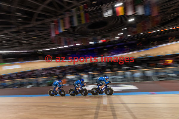 Men 's Team Pursuit finals - Italy - SCARTEZZINI Michele, CONSONNI Simone, GANNA Filippo, LAMON Francesco