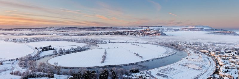 Image - Winter Panoramic, River Forth meander, Stirling City
