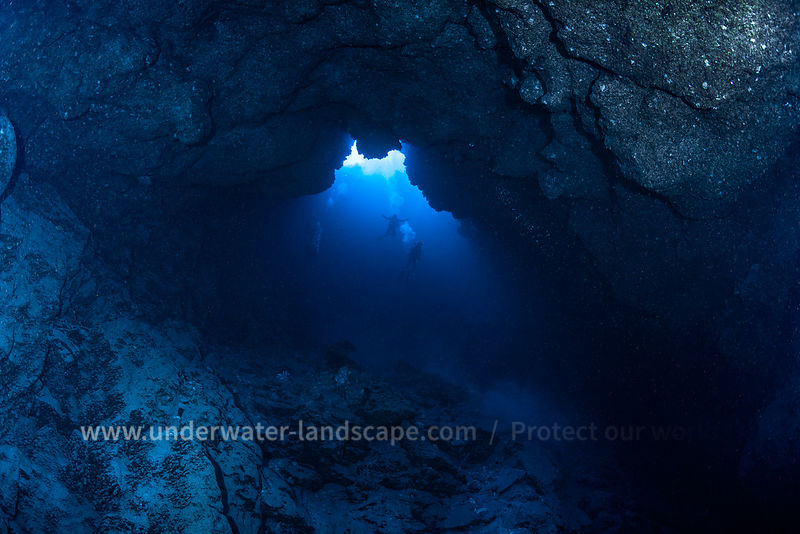In the blue hole