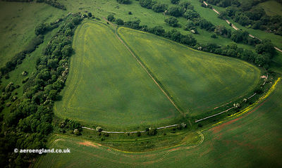 North Stoke hillfort from the air
