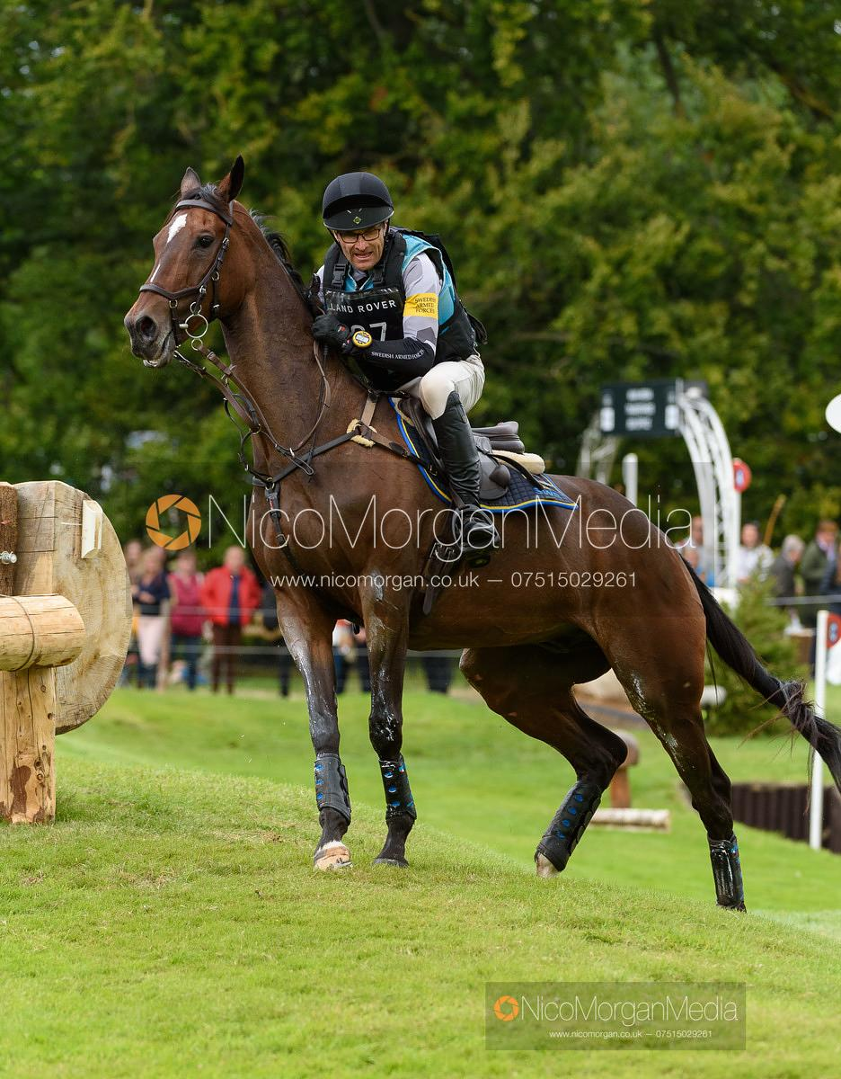 Johan Lundin and MIND ME - Cross Country - Land Rover Burghley Horse Trials 2019