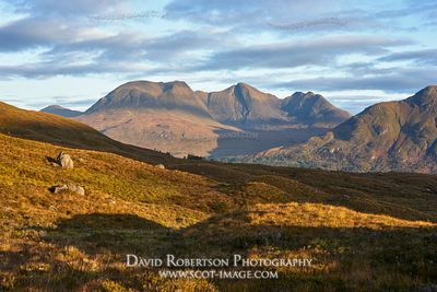 Image - Beinn Alligin viewed from Beinn Damh, Torridon, Wester Ross, Highland, Scotland