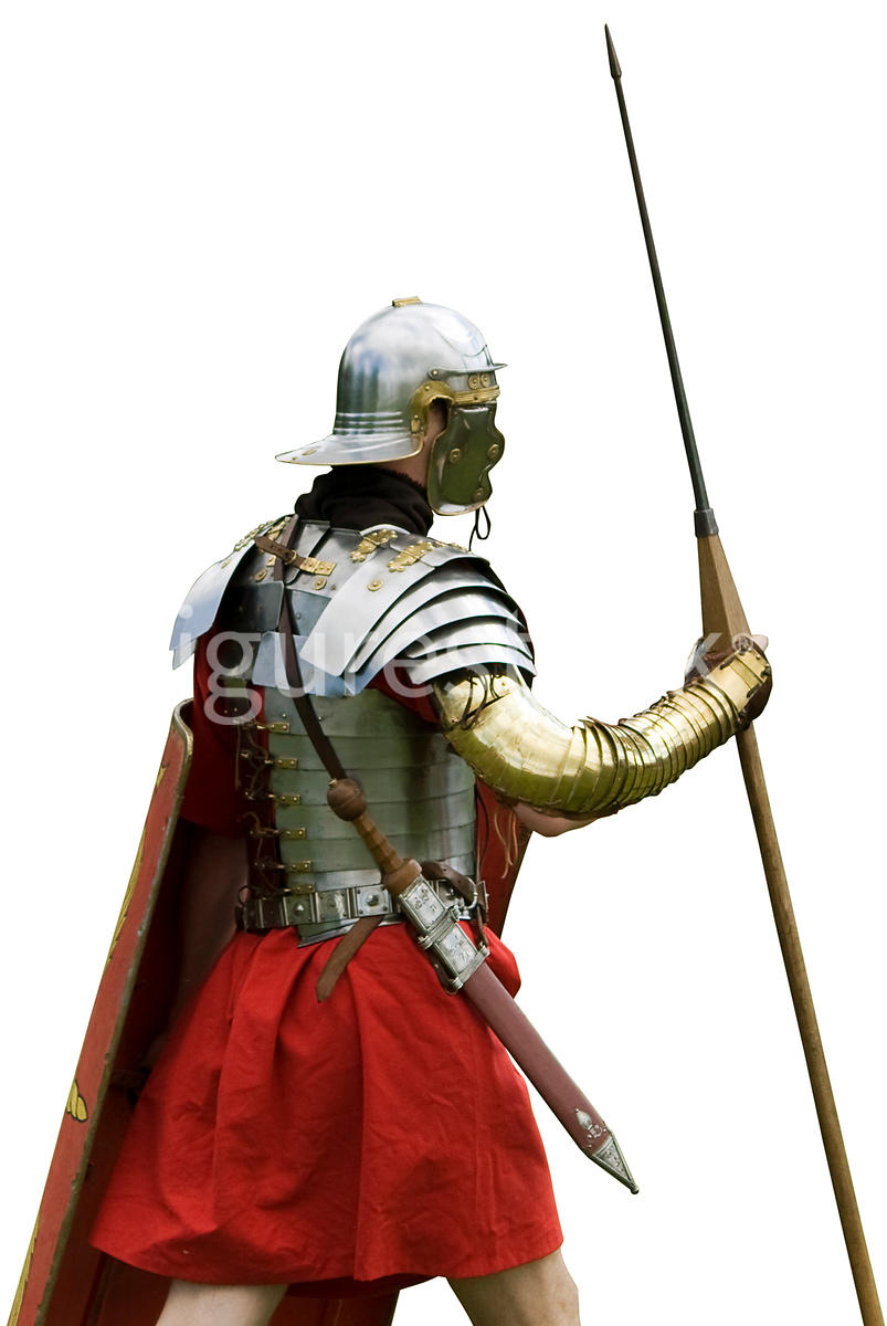 A roman soldier – shot from eye level.