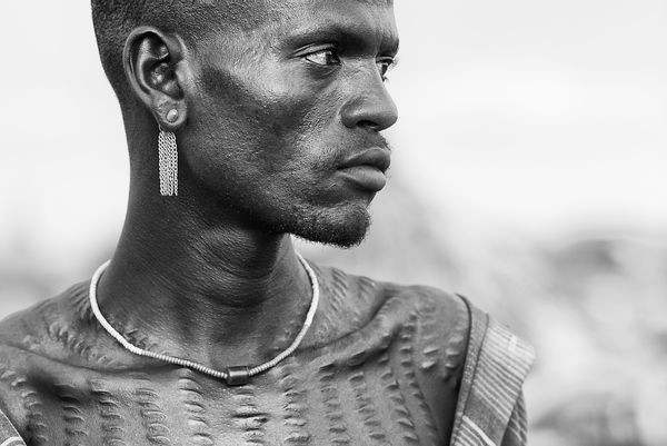 Dassanech Man With Tribal Body Scarification