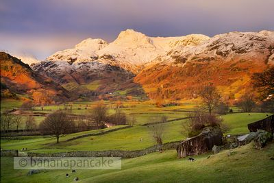 Winter sunrise, The Langdale Valley - BP3374B
