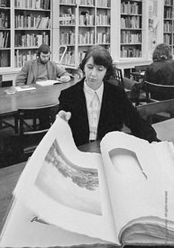 #77267  Elizabeth Dixon, Librarian, Architectural Association School of Architecture, London  1975.