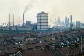 #5627,  Steelworks, Port Talbot, Wales, 1971.