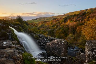 Prints & Stock Image - The Loup of Fintry, a waterfall on the River Endrick above Fintry, Stirling, Scotland.