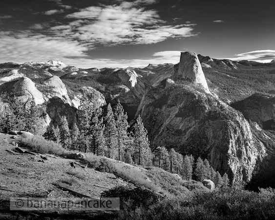 Half Dome from Glacier Point, Yosemite National Park - BP1498BW2
