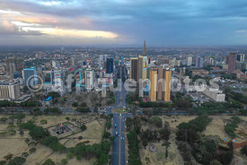 Nairobi City center from above