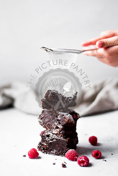 Raspberry And Almond Chocolate Brownies
