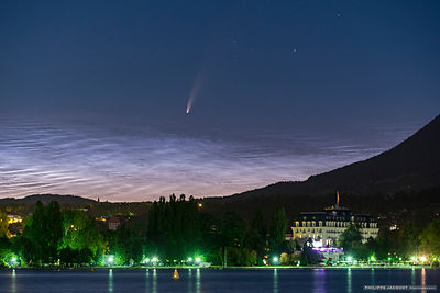Comet and noctilucent clouds - Annecy