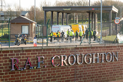 Protests outside American Forces base RAF CROUGHTON