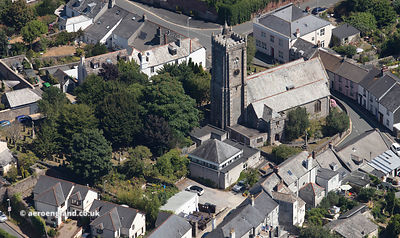 Church of St Maurice, Plympton St Maurice  from the air