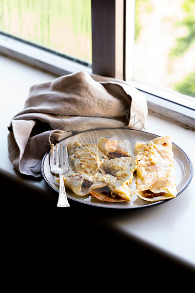 Gluten-free Eggless Crepes.