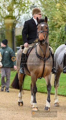 Peter Cooke at the meet. The Cottesmore Hunt at Pickwell 31/12