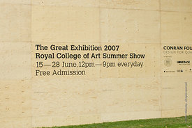 "#029098,  The Big ""Tent"" for the Royal College of Art Degree Show, Kensington Gardens, London  2007"