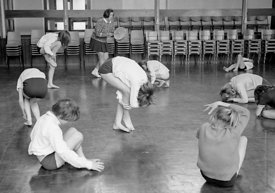 #83722,  Music & Movement, Whitworth Comprehensive School, Whitworth, Lancashire.  1970.  Shot for the book, 'Family and Scho...