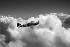 Hurricane above clouds BW version