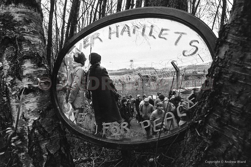 England,UK. 11.12.1983, Greenham. 50,000 women encircle the base just over three weeks after the first cruise missiles arrive...