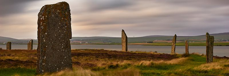 Image - Ring of Brodgar, neolithic stone circle, Mainland, Orkney, Scotland at dusk