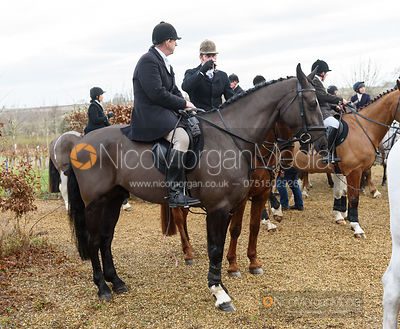 Sean Frankham and Angus Smales at the meet. The Cottesmore Hunt at Town Park Farm 7/1