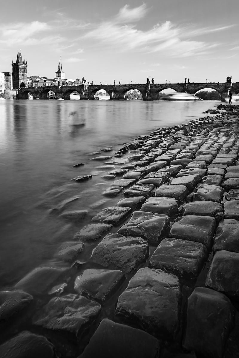 On the banks of the Vltava river