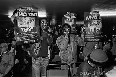YJ40-4A On January 1st 1987 a young black man, Trevor Monerville, was arrested and held incommunicado in Stoke Newington poli...