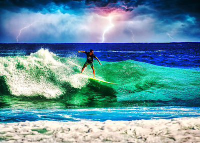 SURFER IN THE STORM