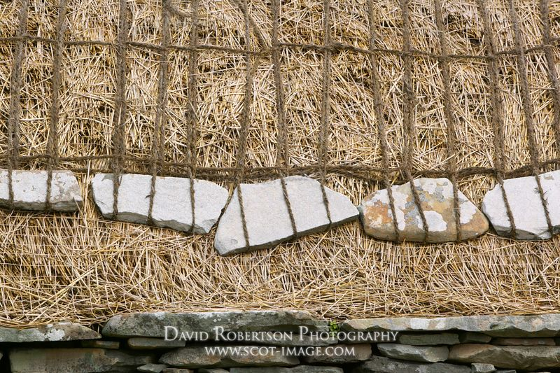 Image - Croft house thatched roof, Shetland