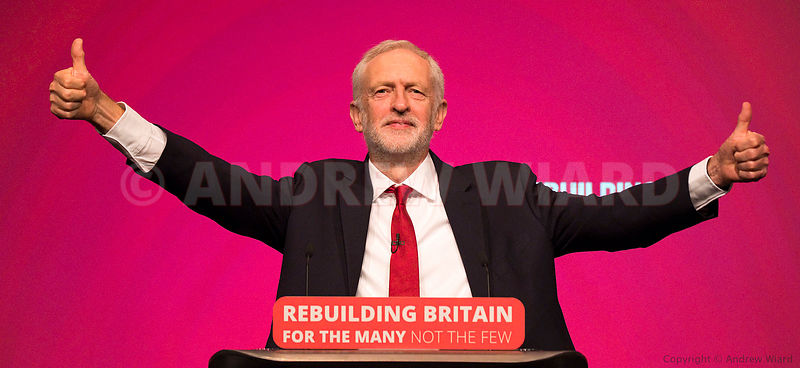 England, UK . 26.9.2018. Liverpool . Jeremy Corbyn arrives to address Labour Party Conference..