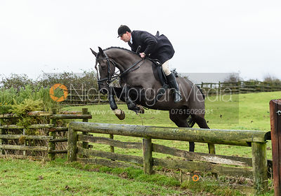 Sean Frankham jumping a fence. The Cottesmore and Fernie Hunts at Hill Top 10/12