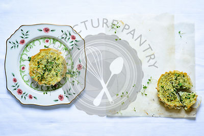 Herb tart, Basil, Chives, Parsley, Coriander