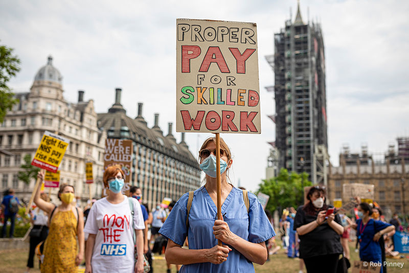 NHS Workers Pay Protest