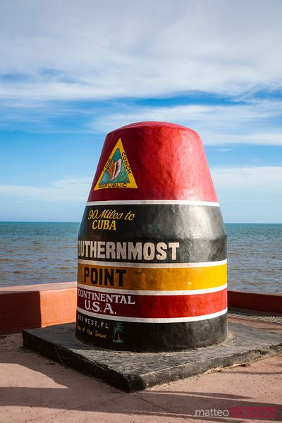 Marker at Southernmost point of USA, Key West, Florida