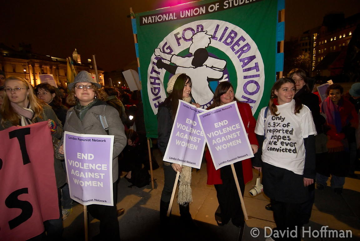071124_ReclaimNight_072 Feminist organised 'Reclaim The Night' march and rally. London 24 November 2007.