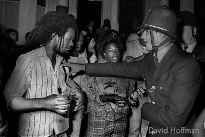 Aggressive policing in Notting Hill Gate during carnival 1979.