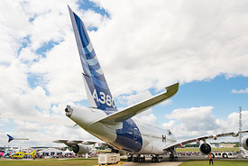 #120931,  Tail assembly of the Airbus A380 at the Farnborough Air Show, 2016.