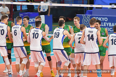 ITALIA vs AUSTRALIA, 2019 FIVB Intercontinental Olympic Qualification Tournament - Men's Pool C