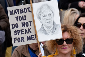#124543,  Anti-Brexit march to Parliament Square, London, 23rd March 2019.  A million people of all ages marched demanding a ...
