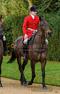 Robert Jarrett at the meet. The Cottesmore Hunt at Pickwell 31/12